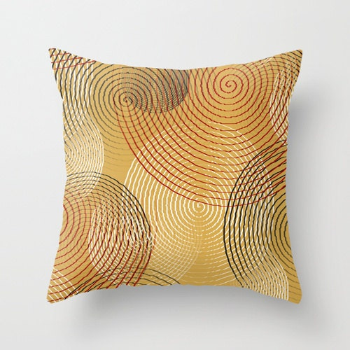 Modern Gold Pillows : Gold Throw Pillow Cover Red White Grey Modern Home Decor
