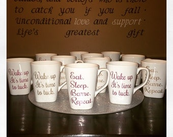 Eat Sleep Barre Repeat || Wake Up || Barre Mug || Coffee Mug || Barre || Fitness || Pure Barre ||  Studio Barre