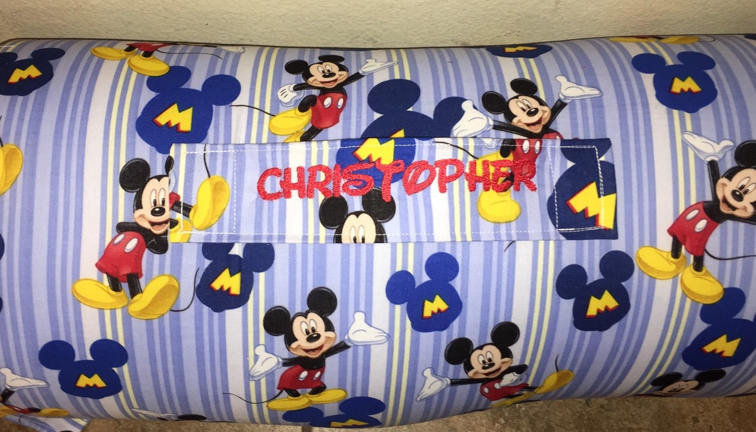 Personalized Preschool Kinder Nap Mat In Mickey Mouse Fabric