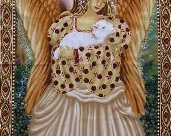 """Christmas Angel cotton panel -- approximately 23"""" x 44"""""""