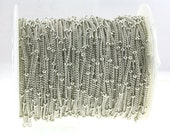 Bulk Spool Sterling Silver 2mm Saturn/ Satellite Bead Chain - 5 Ft (or select longer length at bulk discount) as low as 3.25/Ft!