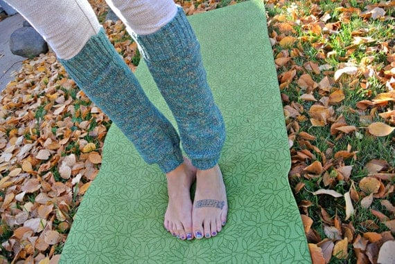 Slouchy Sweater Leg Warmers for Yoga, Fashion Wear, and Boots - Turquoise