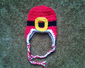 Santa Earflap Hat