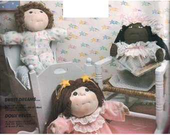 McCall's Sewing Pattern 2242 Soft Sculptured Dolls' Sleepwear for Dolls 16 &18 inches Uncut