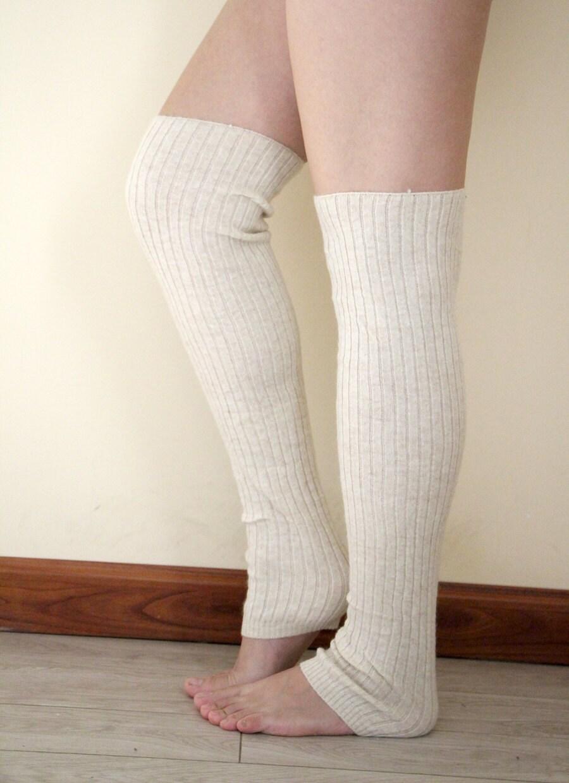 Fancy Cozy Women Leg Warmers Color Cream White By FancyCozy