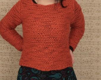 Autumnal Orange Knit Sweater