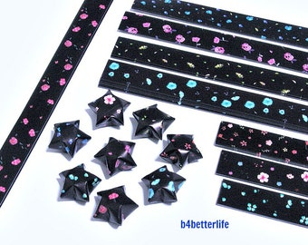 250 strips of DIY Origami Lucky Stars Paper Folding Kit. 26cm x 1.2cm. #C120. (XT Paper Series).