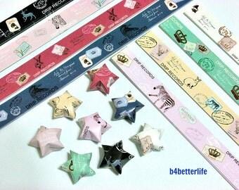 250 strips of DIY Origami Lucky Stars Paper Folding Kit. 26cm x 1.2cm. #C137. (XT Paper Series).