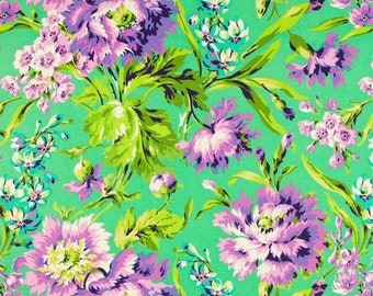 Amy Butler Love Bliss Bouquet Emerald Sold by the FAT QUARTER of a METRE