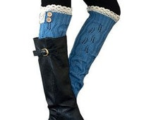 Monogrammed Lace top LONG boot cuff