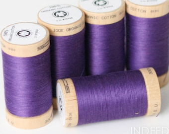 Grape, Scanfil Organic Cotton Thread, 300 Yards, Color #4813