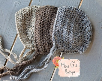 Newborn Tweed Bonnet - Photography Prop