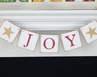 Joy Banner, Christmas banner, Christmas decorations, holiday decor, holiday sign, Christmas decor, joy to the world banner,Christmas garland