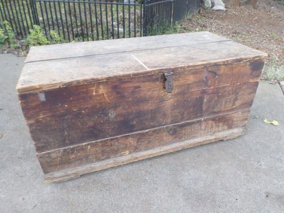 wood coffee table wood crate by norcalpicker on etsy