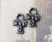 Gothic Cross Charms. Handcrafted Jewelry Supply No. 73CD