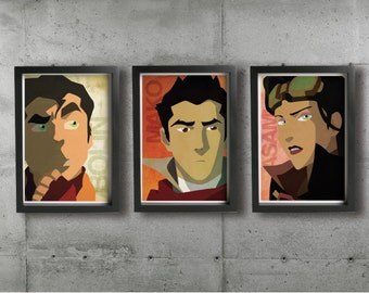 BOLIN, MAKO & ASAMI posters - Inspired by The Legend of Korra. Fine art prints.