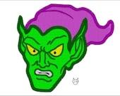 Green Goblin 6 sizes Applique & Embroidery Design - N112