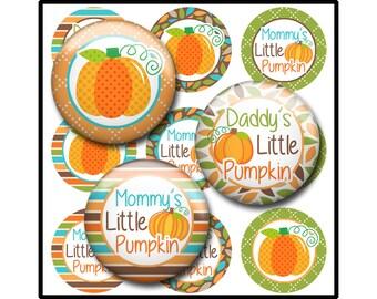 Fall Bottle Cap Image Sheet, Thanksgiving Pumpkin