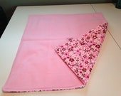 Babyville PUL waterproof mod flowers changing pad with pink 100% fleece