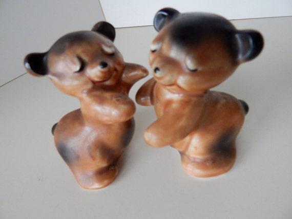 Van tellingen hugging bears salt and pepper shakers vintage - Hug salt and pepper shakers ...