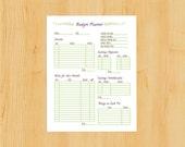 Printable Budget Planner,Monthly Budget Planner,Finance Organizer,Instant Download,DIY Budget Planner,Savings Planner,JPG,PDF Planner