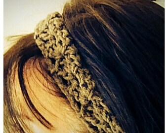 Crochet Elastic Headband