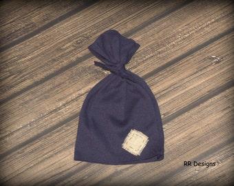 Baby Boy Navy Blue Hospital Hat