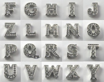 1 SET Rhinestone Alphabet Letters - For Names Initials etc.