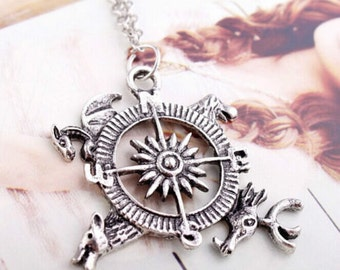 Clearance ~ Game of Thrones Inspired Logo Compass Necklace