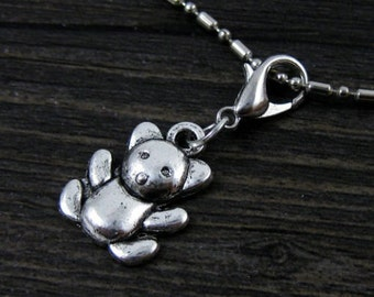Teddy Bear #2  Dangle for Bracelets, Floating Charm Pendants, Necklaces & Keychains  D031