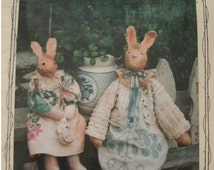 Betty B bunny - 20 Inch Doll Sewing Pattern #019 from Fey Enterprises - Handmade Primitive Crafts Pattern  UNCUT Pattern 1998