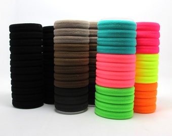 24 Pieces Hair Elastic Band|1 9/16 Inches|Women Ponytail Tie Band|Rubber Band|Accessory Supply|Hair Tie Band|Jewelry Making|DIY Material