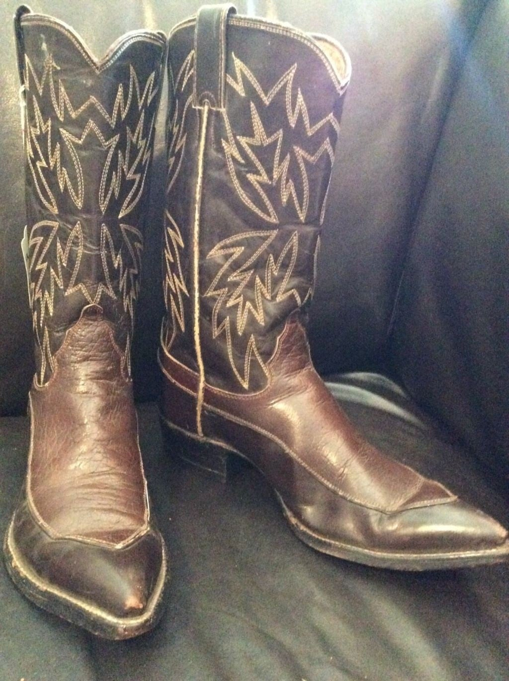 62fe8d2e32b 1950's Justin Cowboy Boots. Needle Nose Pointy Toe, Excellent ...