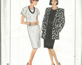 Simplicity 9552 80's dress sewing pattern uncut 6 8 10 12 14 Eur 34 - 42 jacket Jiffy