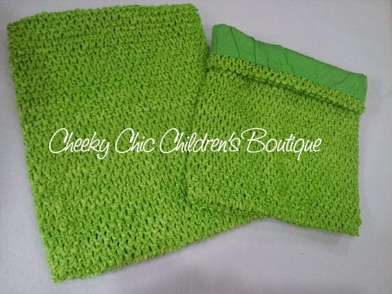 LINED 10x9 inch APPLE / Lime Green Crochet Tutu Dress Tube Top [LCB10AP]