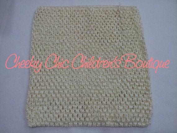 9x8 inch IVORY / CREAM Crochet Tutu Dress Tube Top [CB9CM]