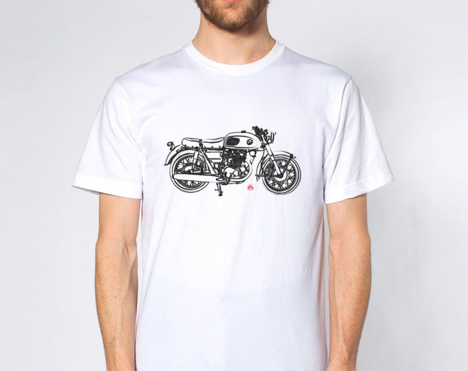 KillerBeeMoto: Limited Release Japanese Engineered Vintage 450cc Cafe Racer Front Short And Long Sleeve Shirt Ink Style