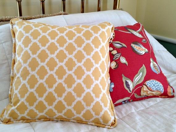 Quatrefoil Decorative Pillow : 21 x 21 Yellow Pillow Cover Quatrefoil Decorative Pillows
