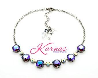 LOVE SPELL Cushion Cut Necklace 6mm/12mm Swarovski Elements *Pick Your Finish *Karnas Design Studio *Free Shipping*