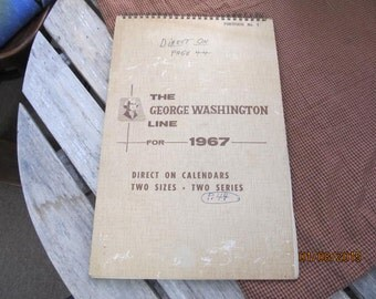 Vintage Salesman Sample George Washington Line 1967 Calendar Portfolio No 1