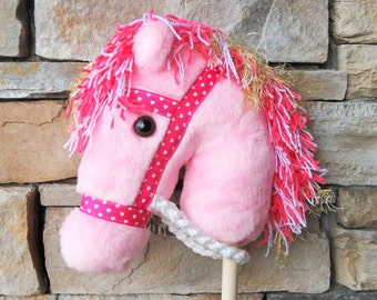 Horse of a Different Color - Pink Stick Pony - Hobby Horse - Stick Horse