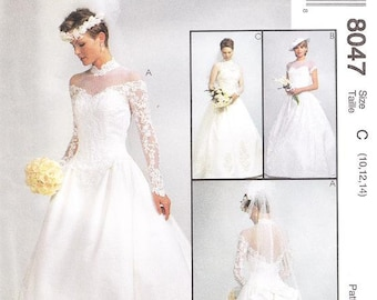 McCall's 8047 Misses' Wedding Gown Sewing Pattern, 10-14