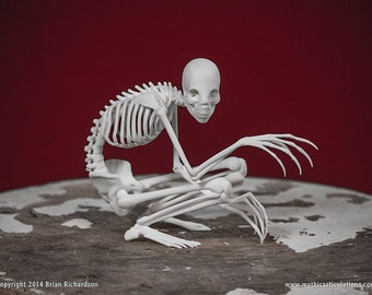 The Rake Skeleton 3D Print Taxidermy Sculpture