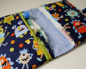 Diaper Clutch with Changing Pad | Diaper Changing Kit | Diaper Wipes Bag | Diaper Wipes Clutch | Baby Clutch | Baby Shower Gift