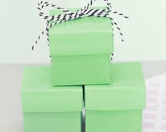 Mint Green Wedding Favors Mint Green Baby Shower Birthday Favor Boxes Mint Green Bridal Shower Favor Boxes MINT GREEN 2| (EB1025) set of 24
