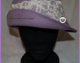Felt violet hat