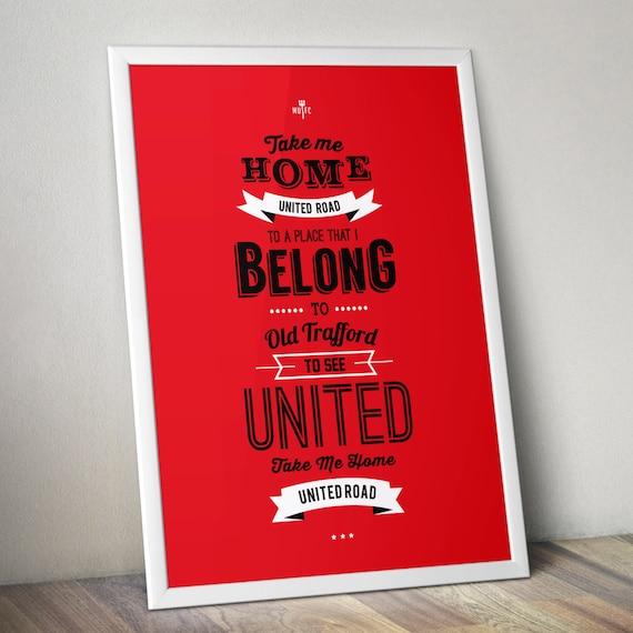 Manchester United - United Road Print