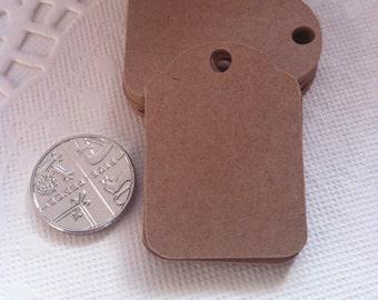 50 Handmade Vintage Style Mini Price Tags 2.5cm x 3.5cm