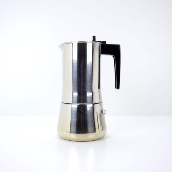 modern bialetti stovetop espresso maker moka pot inox 18 10. Black Bedroom Furniture Sets. Home Design Ideas