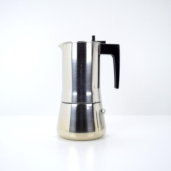 Italian Coffee Maker Seals : Modern Bialetti Stovetop Espresso Maker Moka Pot Inox 18/10